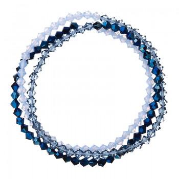 Náramek s krystaly modrý 33081.5 metalic blue