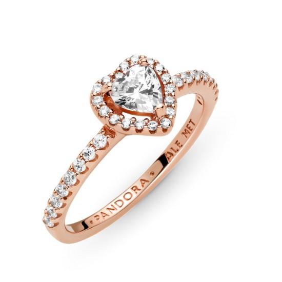 Trblietavý prsteň s vyvýšeným srdcom