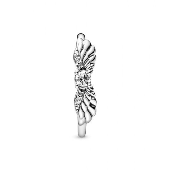 Trblietavý prsteň s krídlami anjela