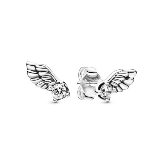 Trblietavé puzetkové náušnice Anjelské krídla