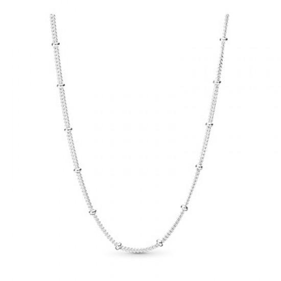 Strieborný pevný náhrdelník