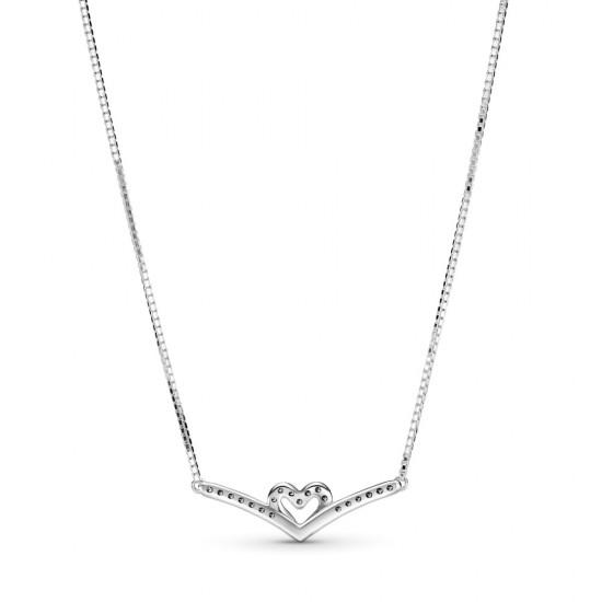 Trblietavý véčkový náhrdelník so srdiečkom