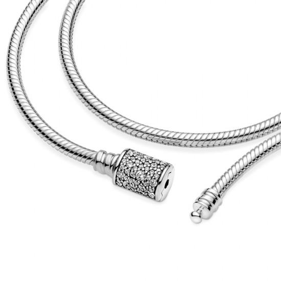 • Pandora Moments dvojitý náramok s hadím vzorom a sponovým uzatváraním