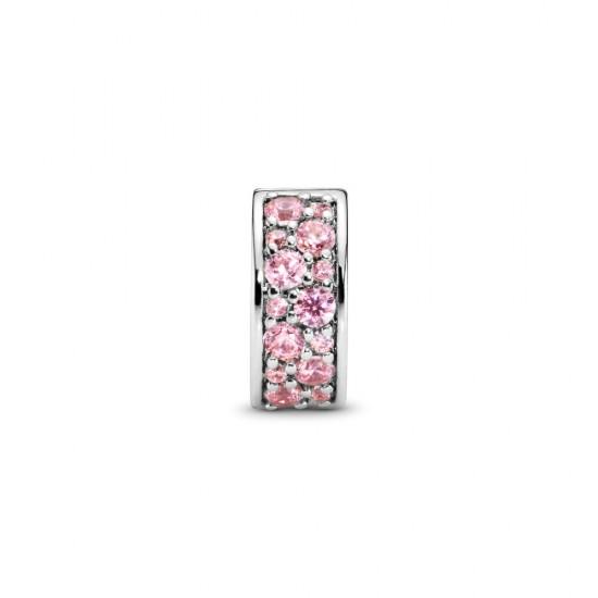Klipový prívesok s ružovým pavé