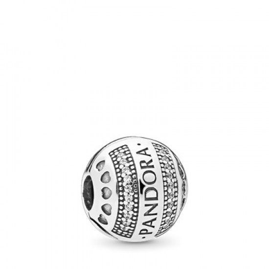 Klipový guľatý prívesok s logom Pandora