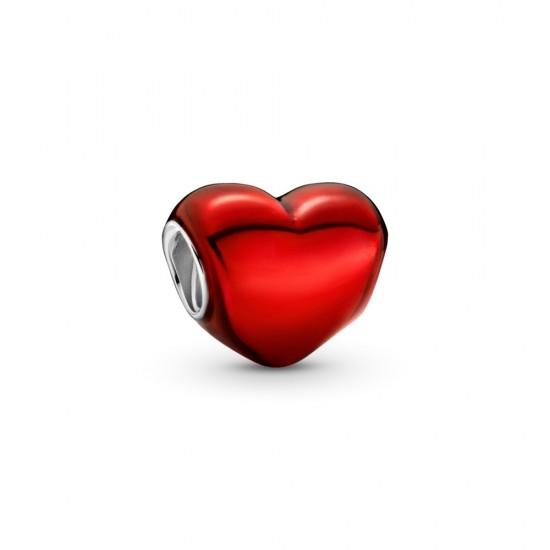 Prívesok Srdiečko v metalickej červenej farbe
